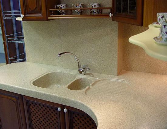 Каменная мойка для кухни фото
