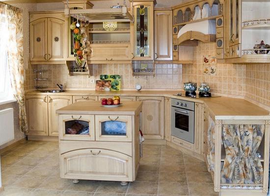 Кухни из массива фото-12