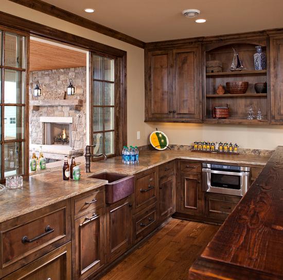 Кухни из массива фото-13