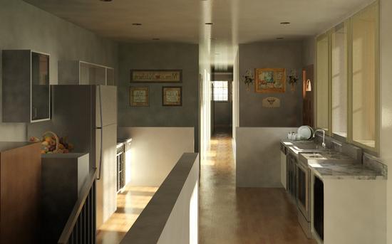 Кухня в коридоре фото-7