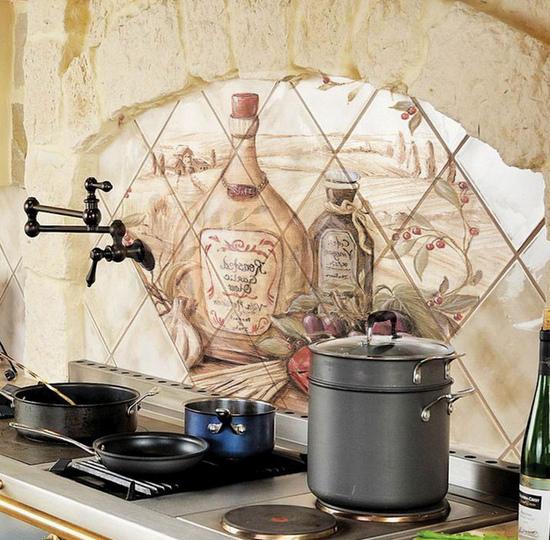 Декоративная плитка в отделке кухни
