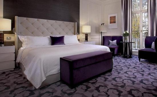 Серо фиолетовая спальня