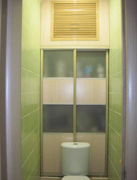 Шкаф в туалете фото (3)