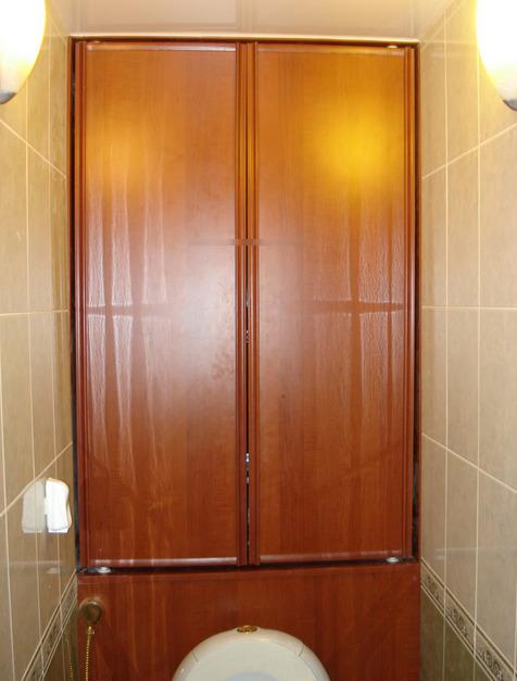 Шкаф в туалете фото (7)