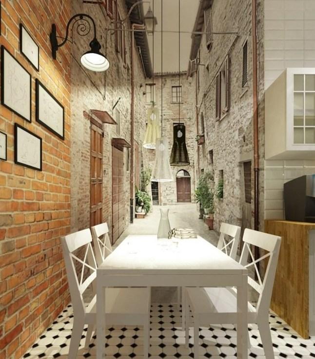 фотообои для маленькой кухни увеличивающие пространство фото квартир