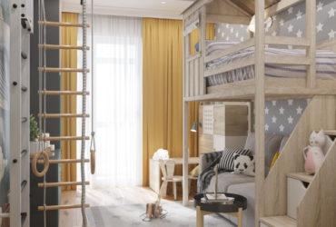 Яркая красочная детская комната